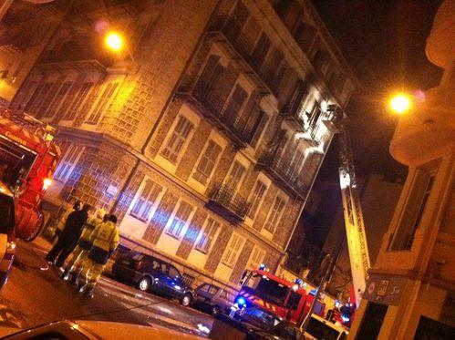Incendie rue Fricéro Nice