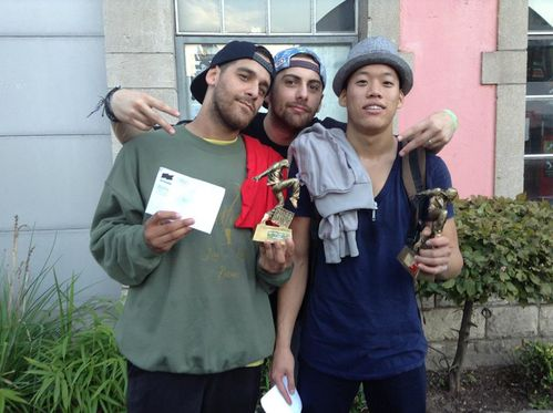 Yes'in and Kiubi, winners of the battle Good Vibes vol 2 Ku