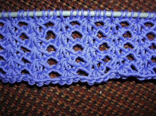 Point au crochet pour echarpe maison design - Point de tricot ajoure pour echarpe ...