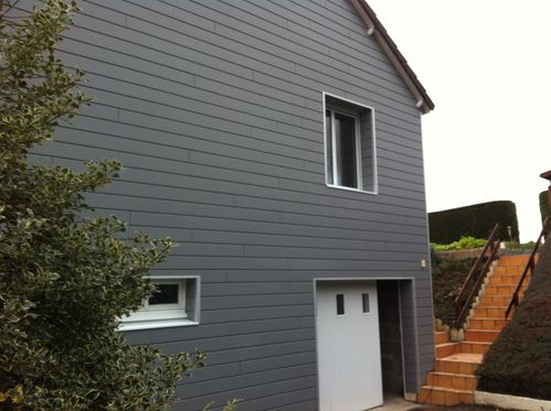 Bardages bois et composites isolation par l 39 ext rieur fh construction - Bardage composite exterieur ...