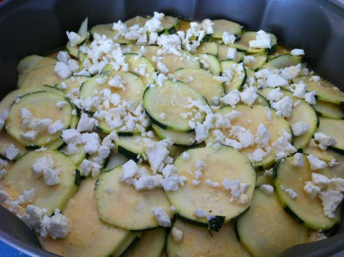gateau invisible courgette feta 2