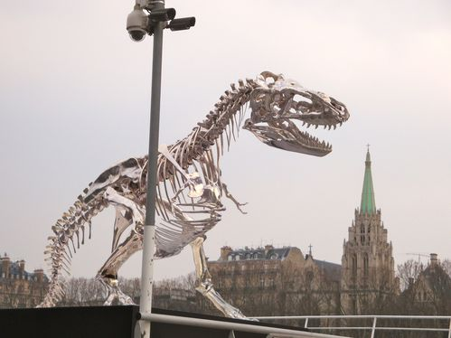 sculpture dinosaure Pasqua seine 4