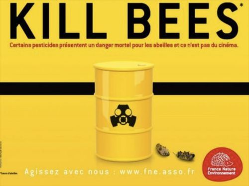 affiche agriculture kill bees
