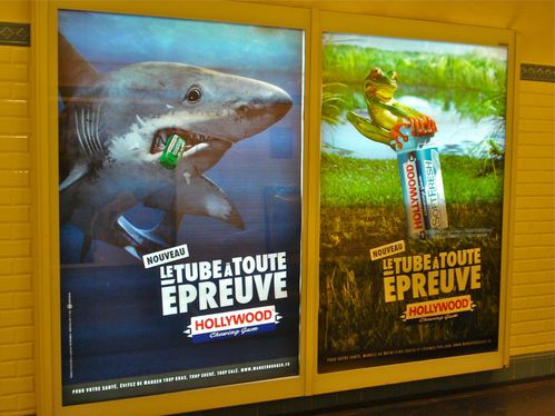 affiche métro Hollywood chewing-gum