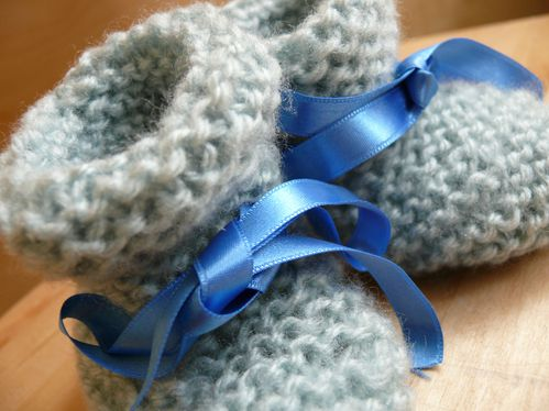 chaussons bébé bleu 2
