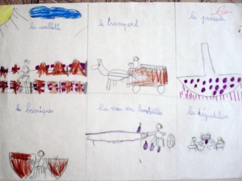 Cycle vigne et vin, Les six dessins