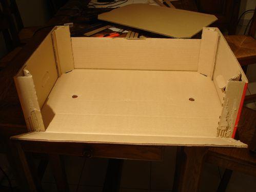 recyclage de cagettes en carton en meuble de rangement petits travaux cr atifs. Black Bedroom Furniture Sets. Home Design Ideas