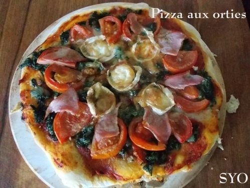 Pizza aux orties tomate bacon chevre-Mamigoz (10)