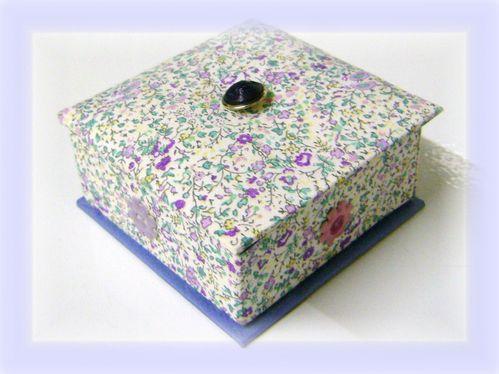 cartonnage boîte Yvette
