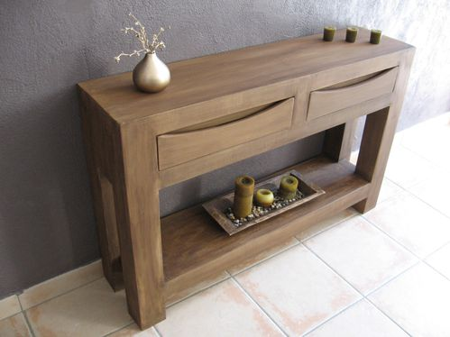 table console en carton imitation bois meubles en carton marie krtonne. Black Bedroom Furniture Sets. Home Design Ideas