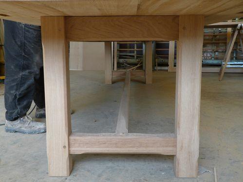 Table De Ferme En Chene Brun Philippe Guichaux Artisan Fabricant Menuisier Charpentier