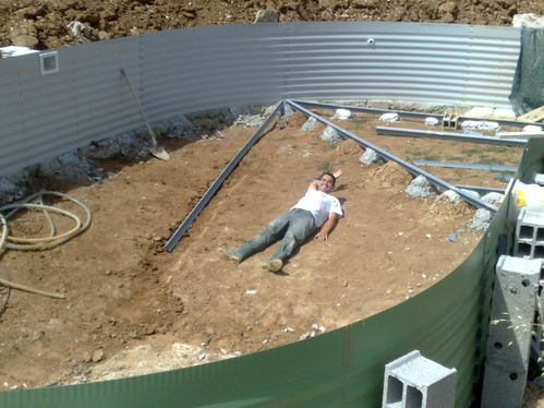 R alisation du radier construction de ma piscine waterair for Piscine fond mobile tarif