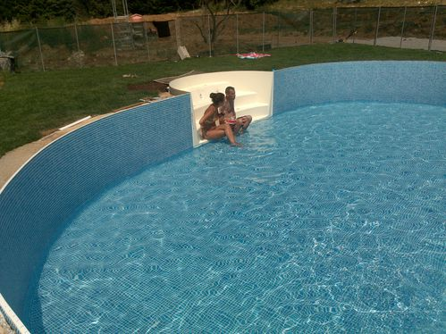 Pose du liner construction de ma piscine waterair for Piscine water air