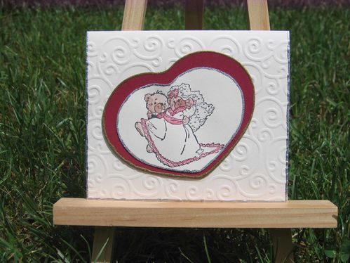 Carte mariage coeur-ours