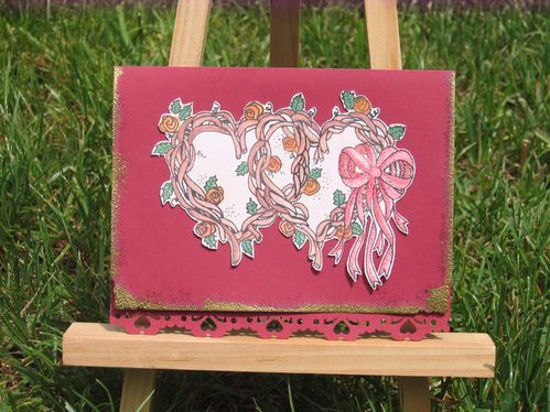 Carte mariage doubles coeurs
