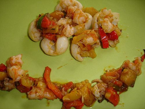 SEICHES GAMBAS RATATOUILLE