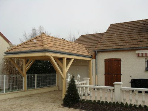 Garage 3 pans fa ade de maison proche beaune le blog - Construction 3m limite propriete ...