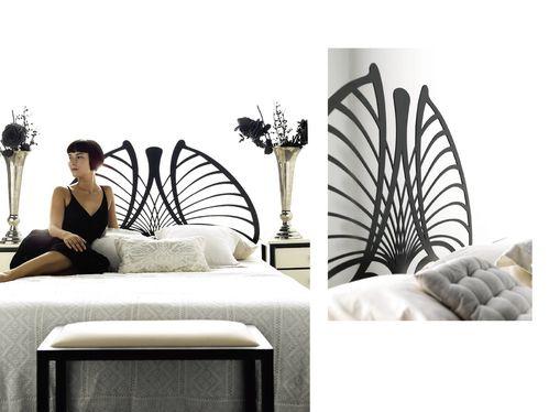 03 lit fer forge papillon