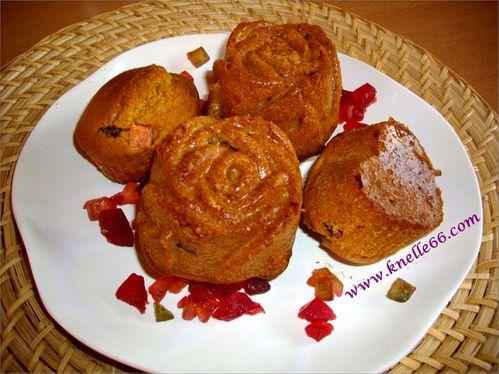 Muffins aux fruits confits