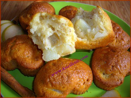 Muffins poire-cannelle