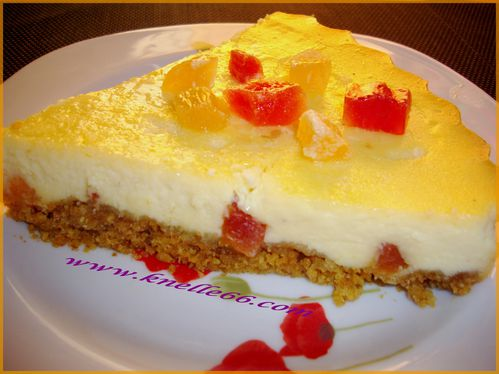 Cheesecake aux fruits exotiques 1