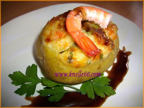 Pomme de terre farcie aux crevettes