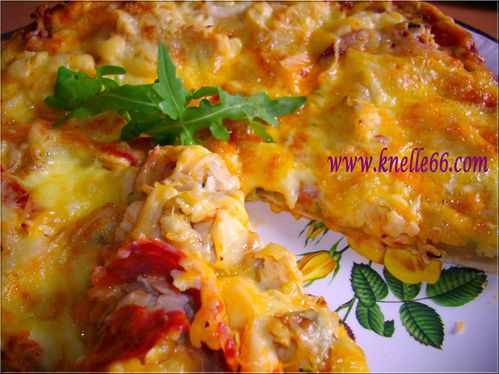 Pizza poulet-fromage 2