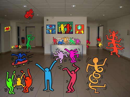 Installation virtuelle - Keith Haring Coline B. 3C