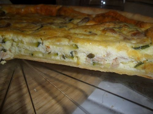 Tarte thon courgettes