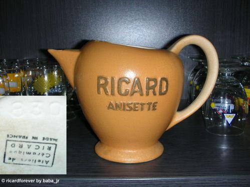 Pichet Rond Ricard Anisette Beige 100 cl (830)