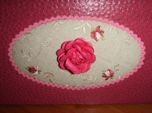 corbeille Claudine rose gros plan