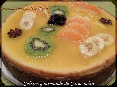 Cheesecake aux fruits exotiquesSAM 6567-border