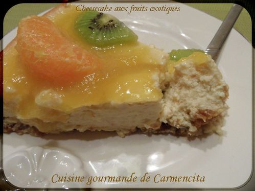 Cheesecake aux fruits exotiquesSAM 6611-border