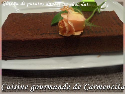 Gâteau patates douces au chocolat.-border