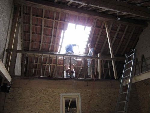 Une fen tre dans le toit la b tisse de david - Badkamer recup ...