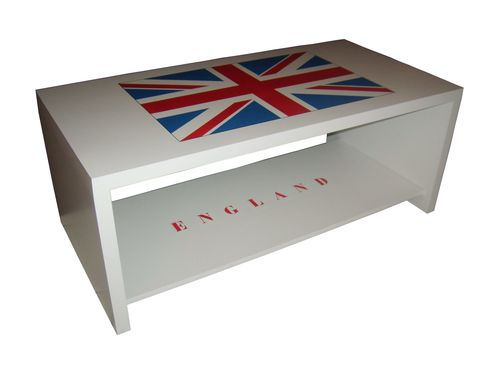 table basse personnalis e union jack l 39 angleterre passionn ment. Black Bedroom Furniture Sets. Home Design Ideas