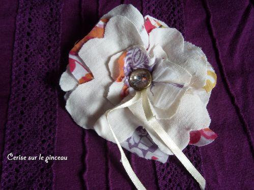 fleur en tissus