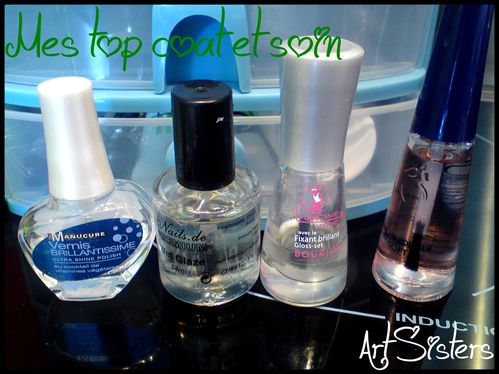 Mes top coat et soin
