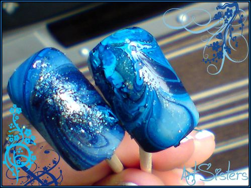 Water marble Blue1