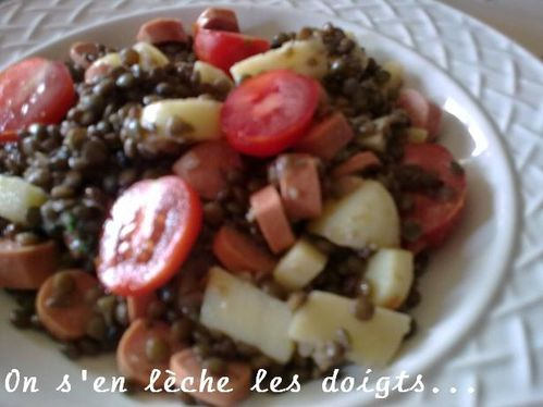 salade lentilles saucisses1