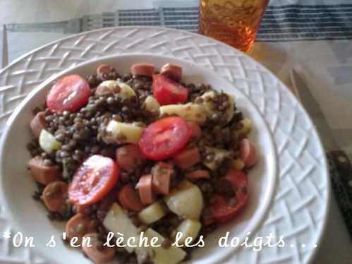 salade lentilles saucisses3