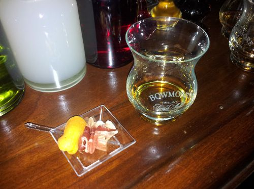 le forum paris whisky bowmore 18 ans abricot jambon