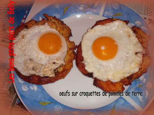 oeufs croquettes patates