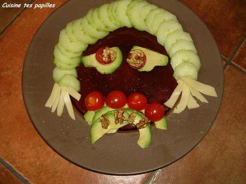 Crudit s de halloween cuisine tes papilles for Entree crudite originale