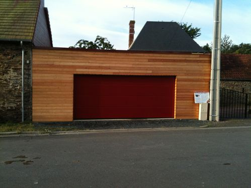 Maison et extension ossature bois fh construction for Garage toit plat bois