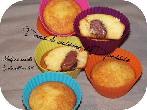 Muffins à la vanille et chocolat
