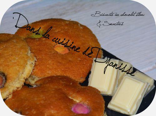 Biscuits chocolat blanc smarties