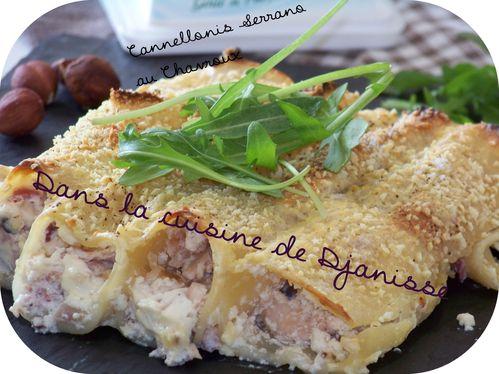 Cannellonis au Chavroux et jambon