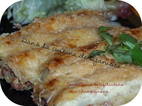 Cannellonis boeuf lardons