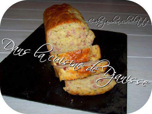 Cake jambon ciboulette